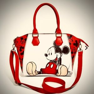 🔥Hot Pick!⭐️Loungefly Red Mickey Mouse Satchel 👜